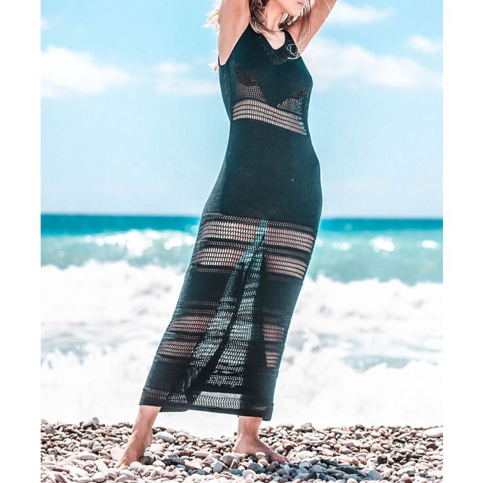 Image for Black knitted bamboo dress