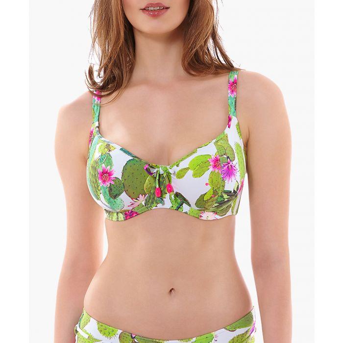 Image for Cactus lime padded bikini top