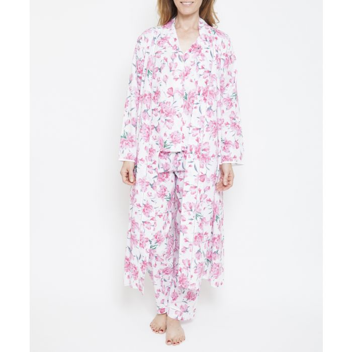 Image for Pearl pink floral printed kimono