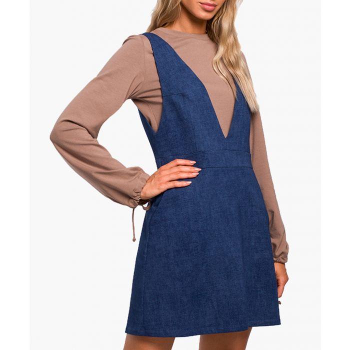 Image for Denim cotton blend dress