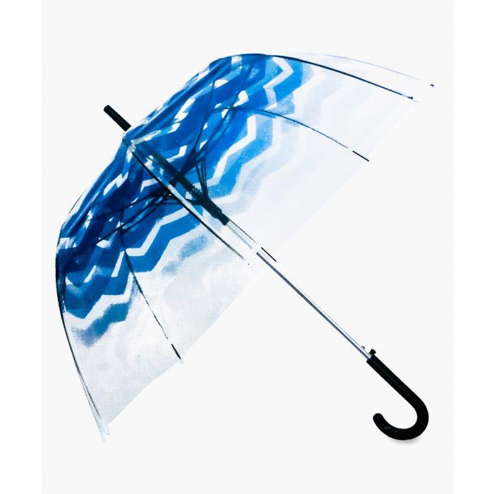 Image for Dark blue chevron printed umbrella