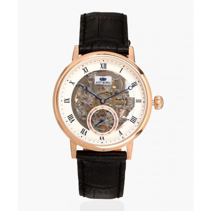 Image for Legacy Skelette black leather watch