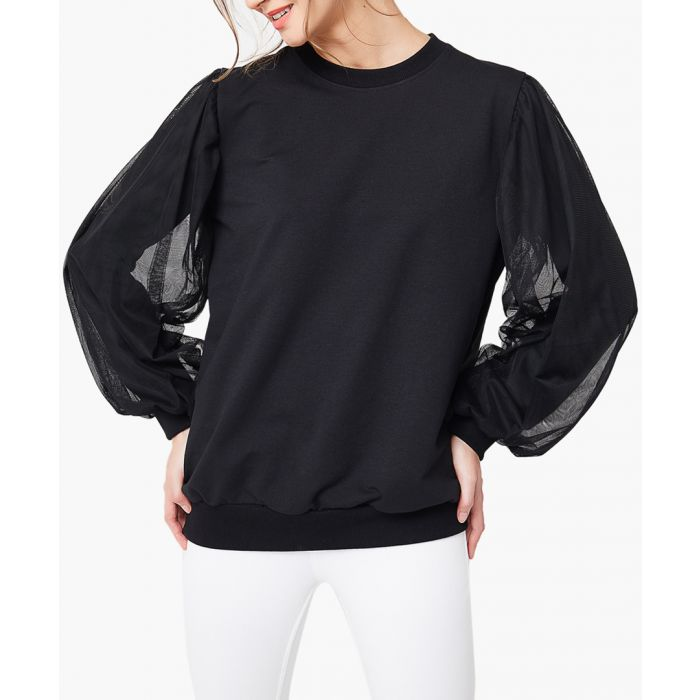 Image for Black loose cut long sleeved top