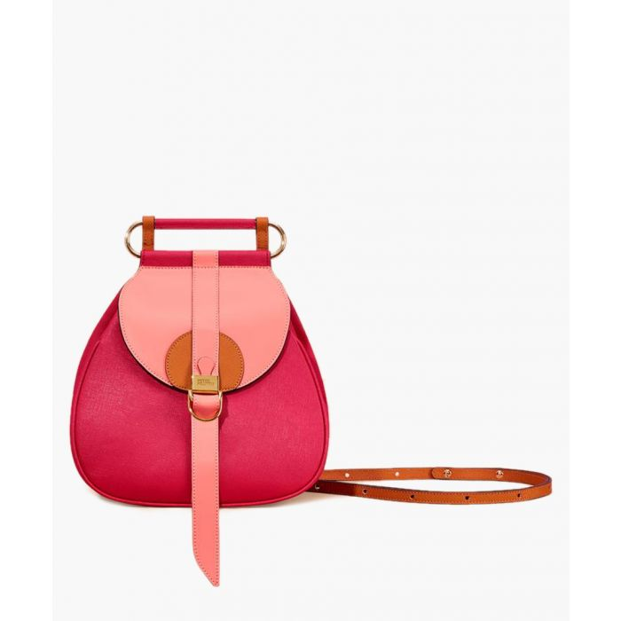 Image for Fuchsia leather backpack
