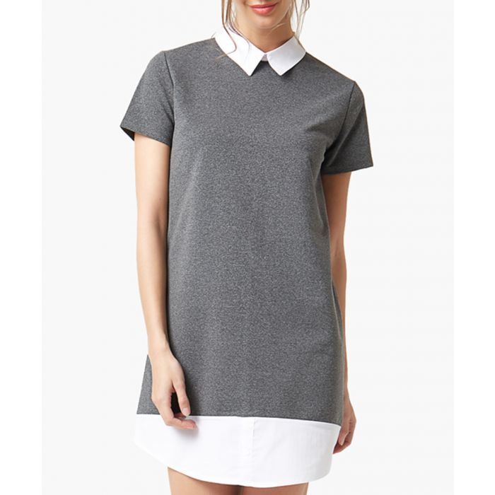 Image for Dark grey flared cut dress