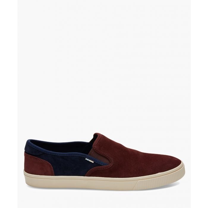 Image for Baja burgundy canvas shoes