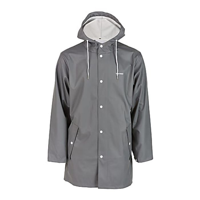 Image for Grey button-up weatherproof coat