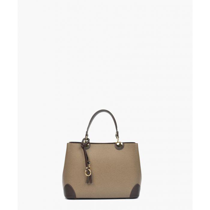 Image for Tan leather grab bag