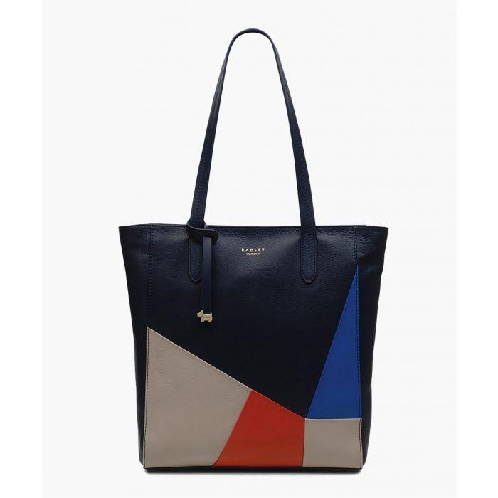Image for Ink blue medium shopper
