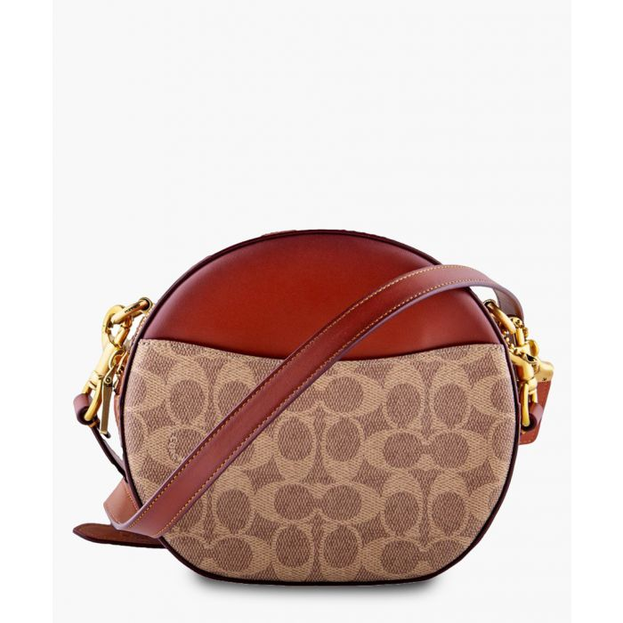 Image for Rust leather printed crossbody