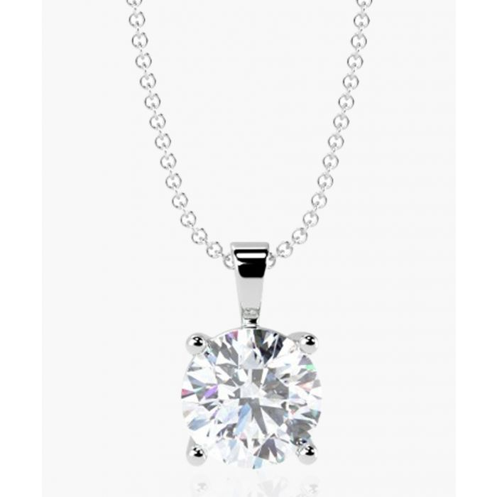 Image for 18k white gold 0.50ct solitaire diamond pendant