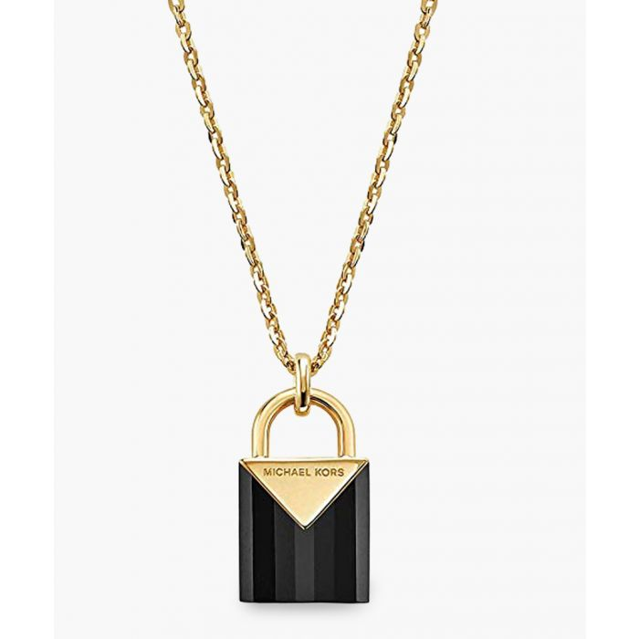 Image for Gold-plated and black necklace