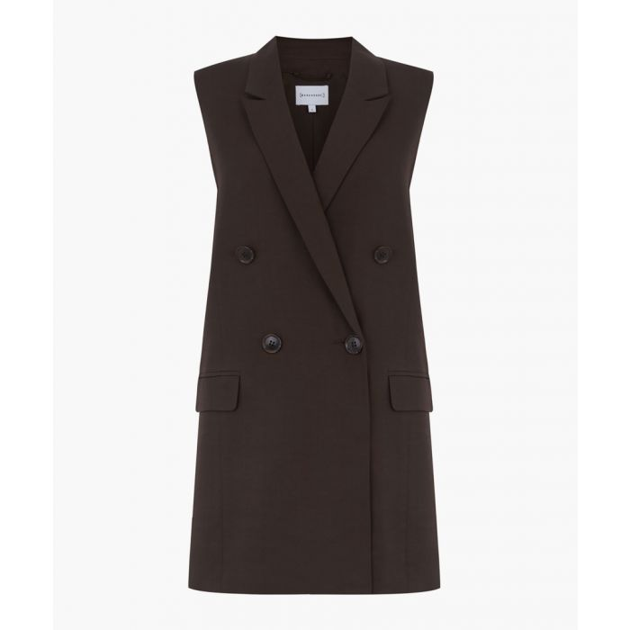 Image for Choc oversized sleeveless jacket