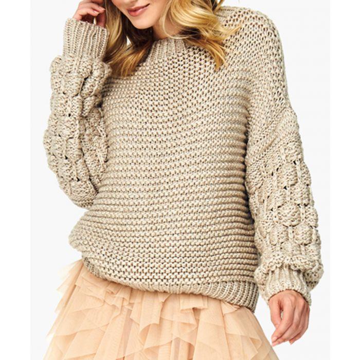 Image for Beige wool blend jumper