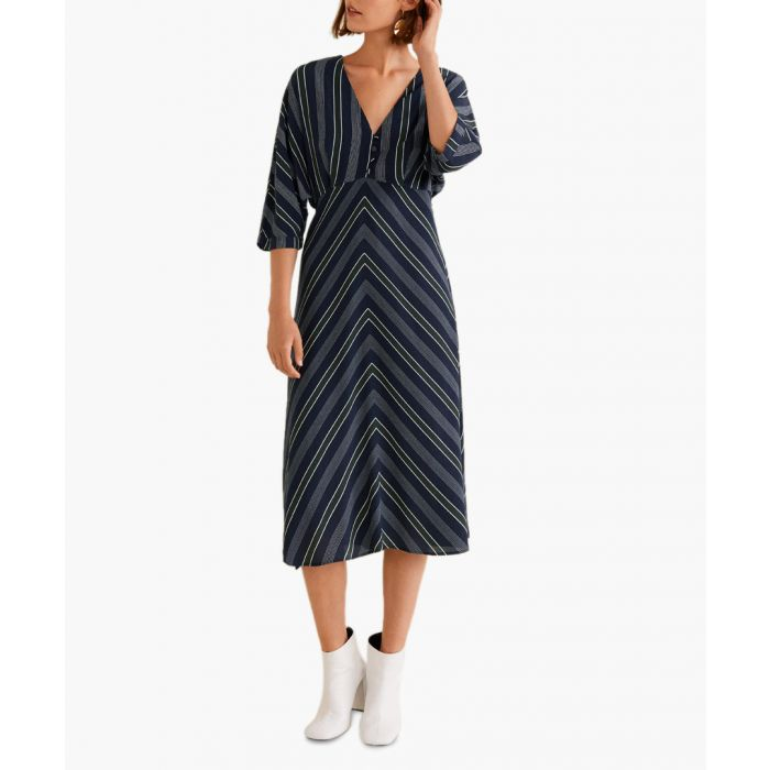 Image for Dark navy stripped dress