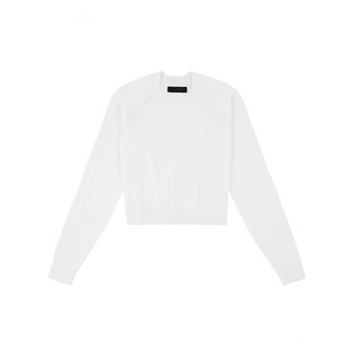 Image for White air cropped jumper