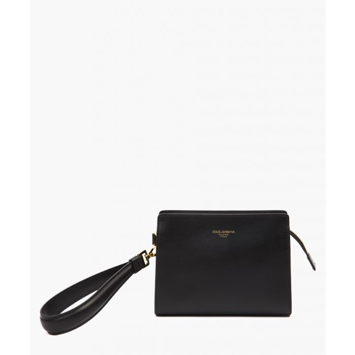 Image for Mall Monreale black logo leather clutch