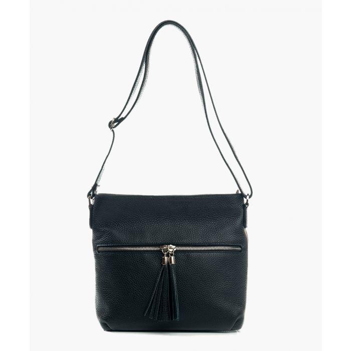 Image for Cetona black leather shoulder bag