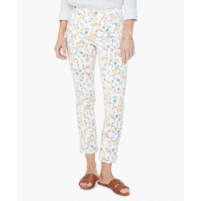 Image for Sheri marigold zinnia arrangement slim ankle jeans