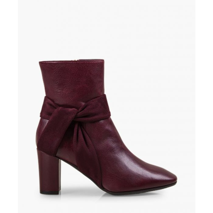 Image for Florence Bloom burgundy patent leather ankle boots