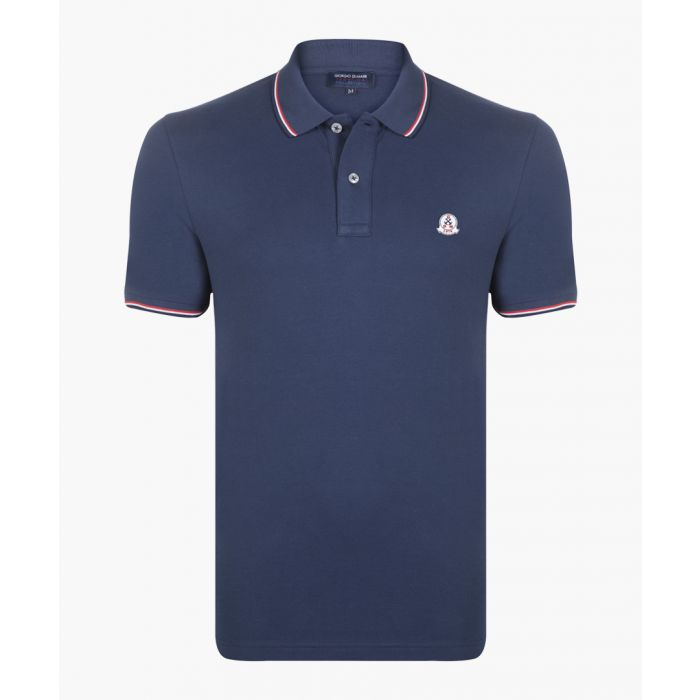 Image for Navy long sleeved polo shirt