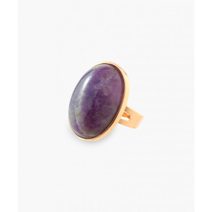Image for 14k gold-plated and amethyst ring