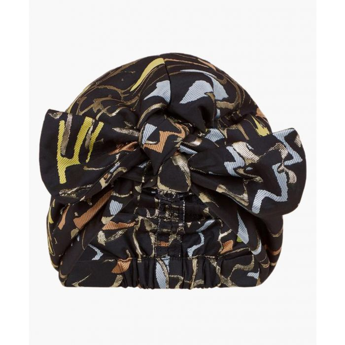 Image for Black taffeta turban