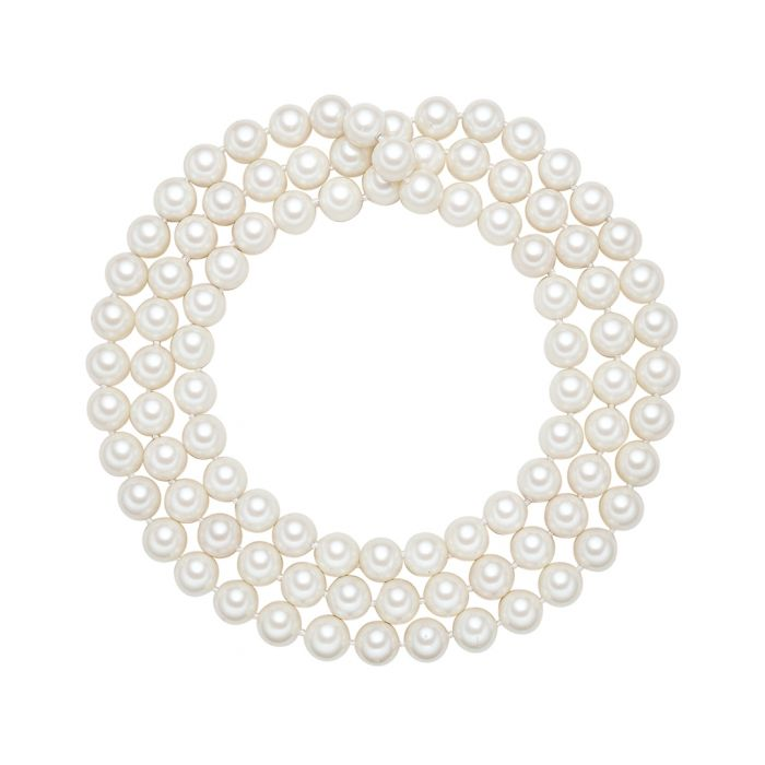 Image for 1.2cm white pearl 3-layer necklace