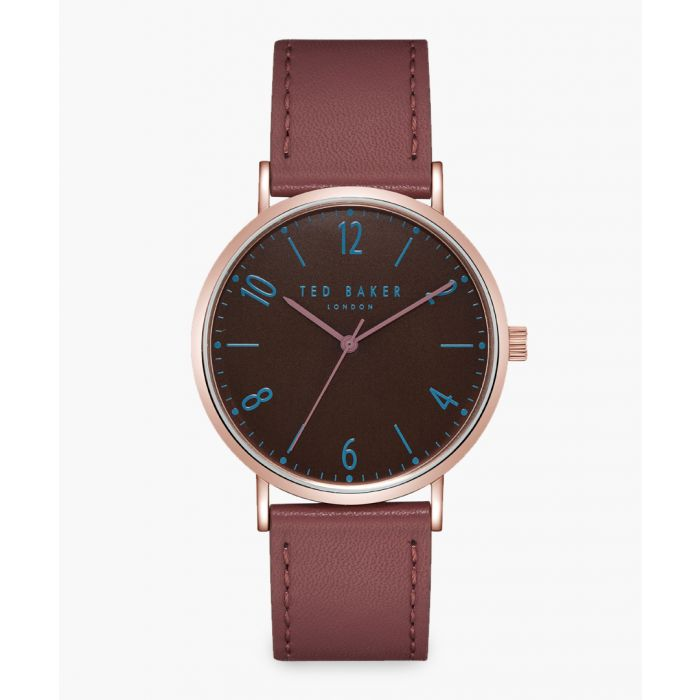 Image for Hank brown leather and stainless steel watch