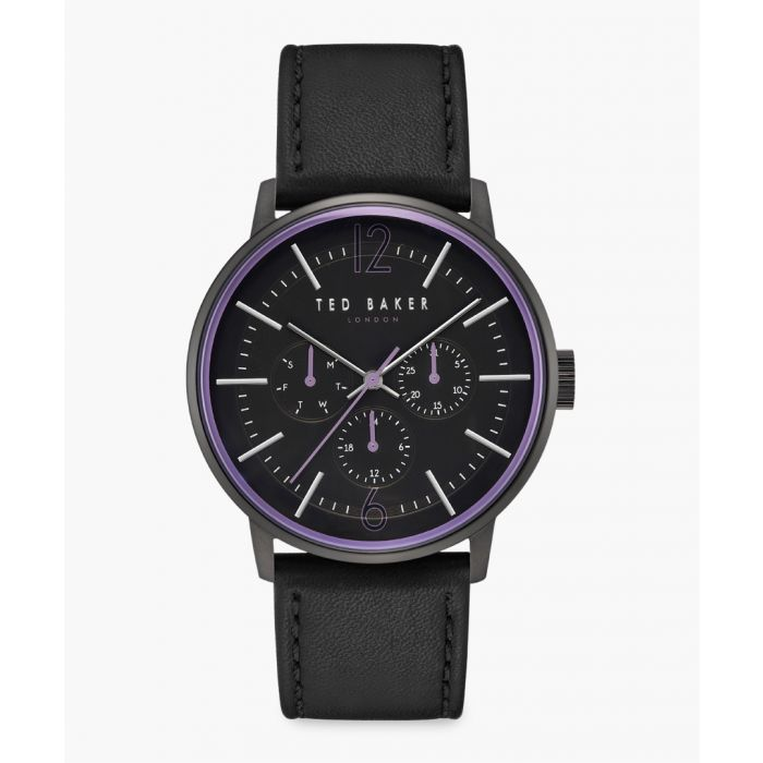 Image for Jason grey leather and stainless steel watch