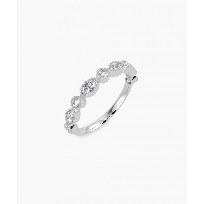 Image for 9k white gold and 0.30ct half eternity diamond ring