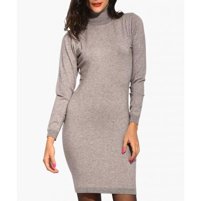 Image for Beige cashmere blend dress
