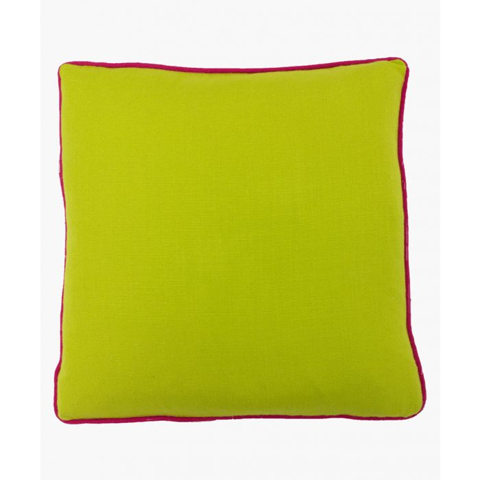 Image for Bamboo lime and fuchsia textured cushion 45cm