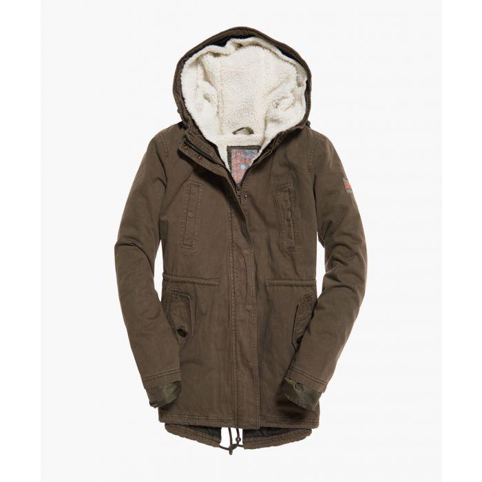 Image for Rookie khaki cotton sherpa multi jacket