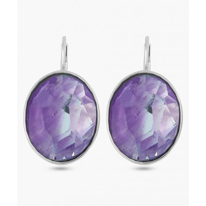 Image for Violet oval earrings