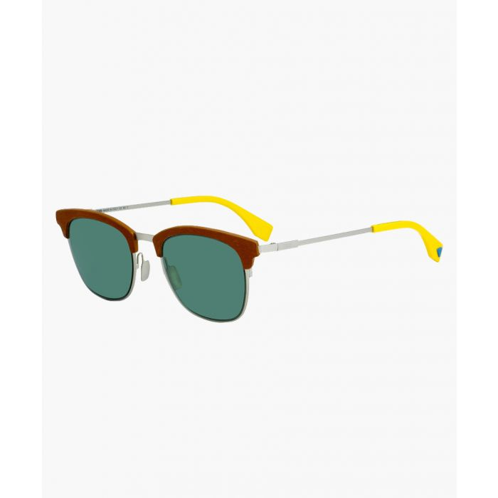 Image for Silver-tone red and green sunglasses