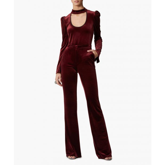 Image for Livia wine red trousers
