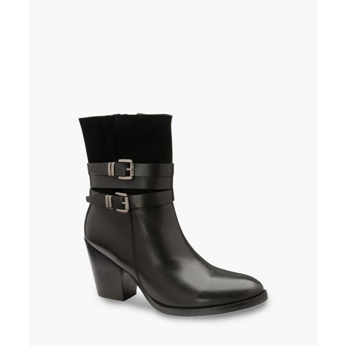 Image for Black buckle ankle boots