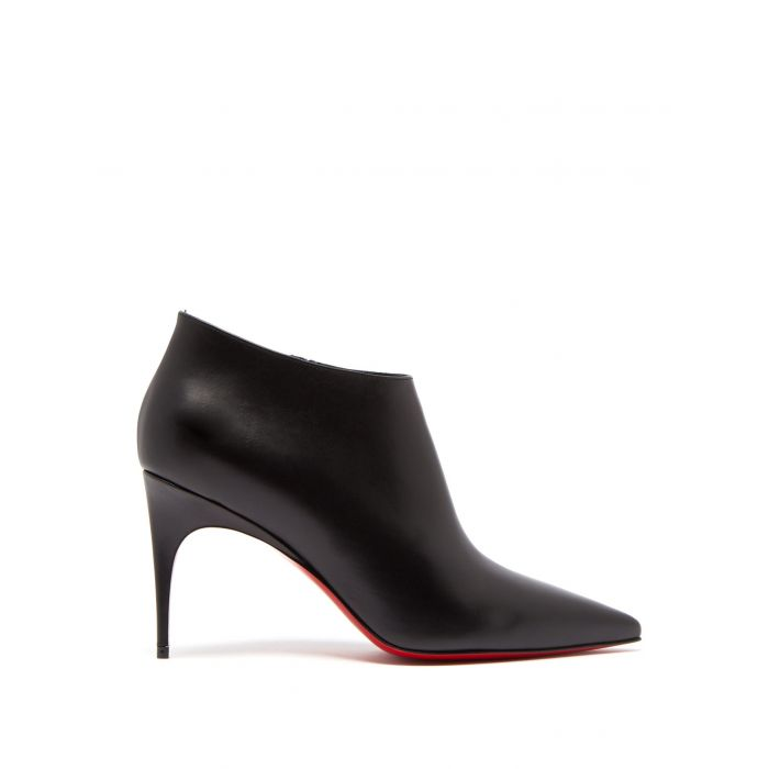 Image for Gorgona black leather ankle boots
