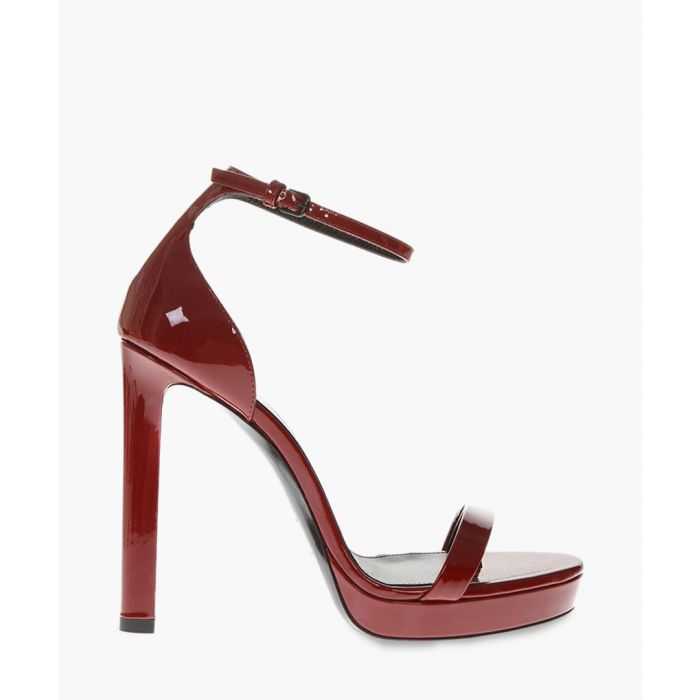 Image for Hall red patent leather sandals
