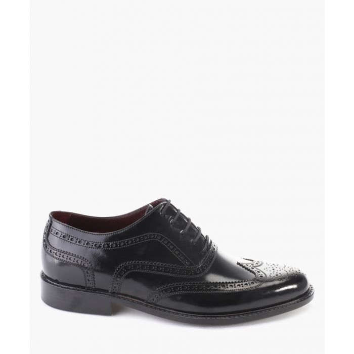 Image for Black leather oxford brogue shoes