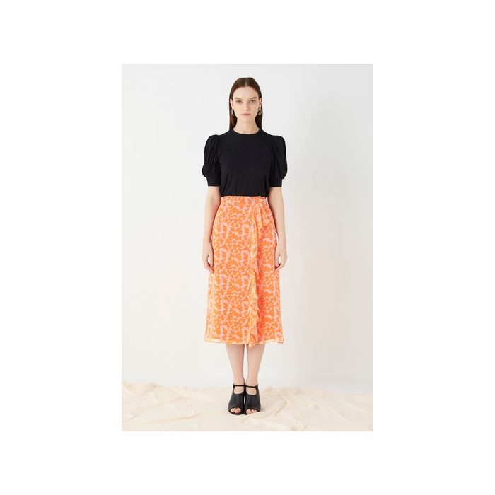 Image for Lisson Printed Georgette Wrap Skirt - Multi