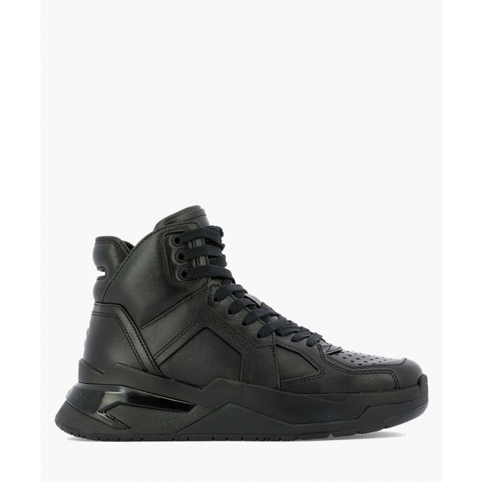 Image for B-ball black leather trainers