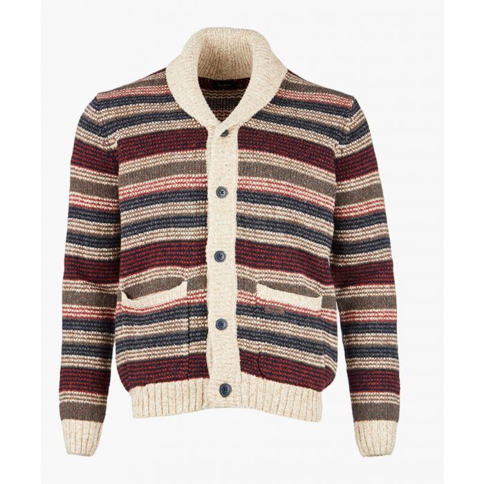 Image for Multi-colour striped knit cardigan