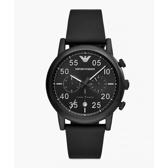 Image for Black rubber and stainless steel watch