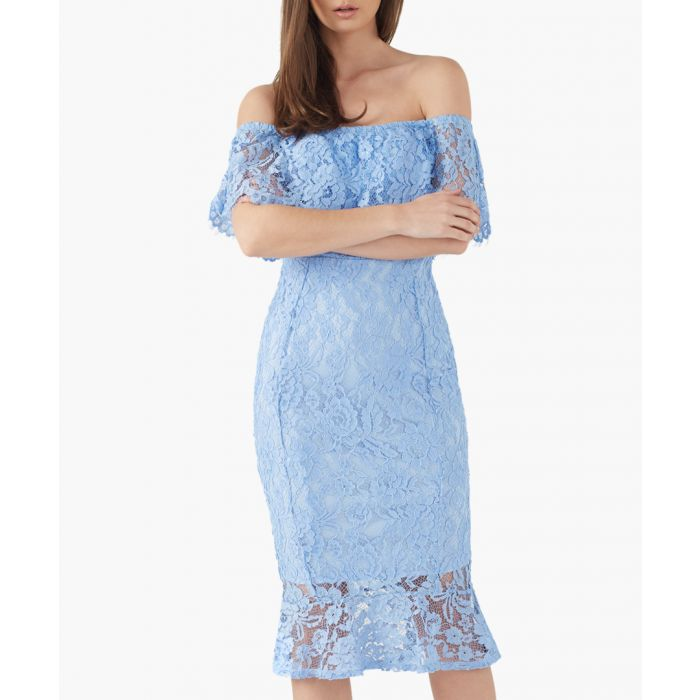 Image for Blue lace dress