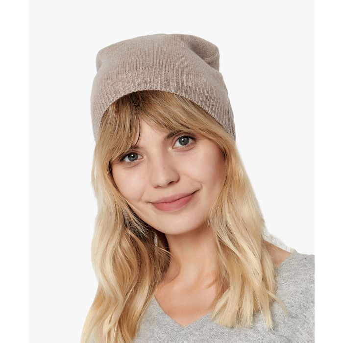 Image for Camel melange pure cashmere hat