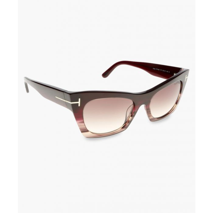 Image for Kasia graduated bordeaux sunglasses