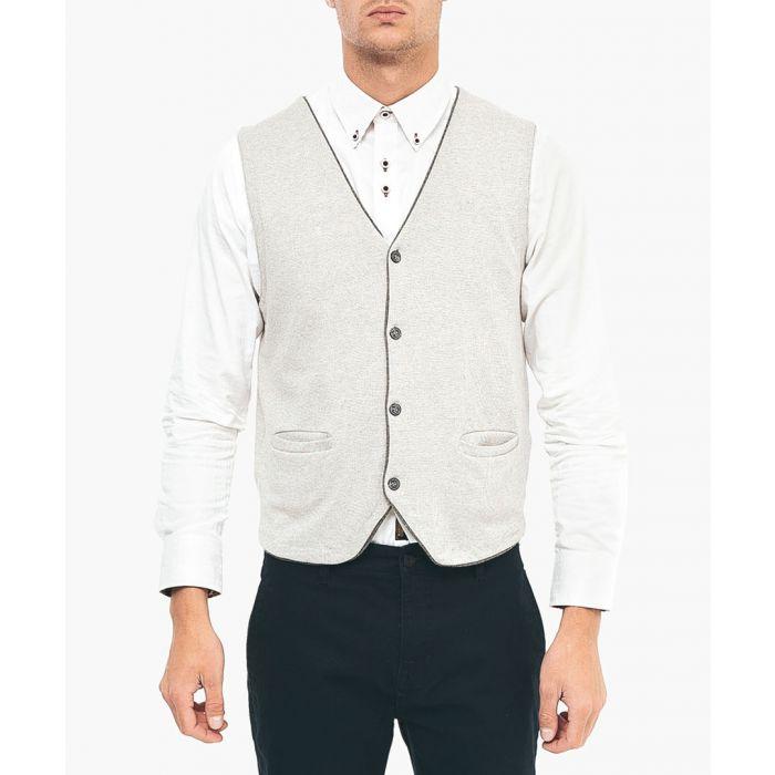 Image for Oat cotton blend waistcoat