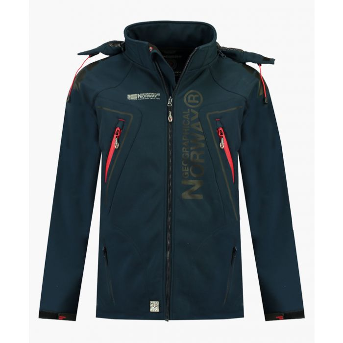 Image for Navy detachable hood softshell jacket